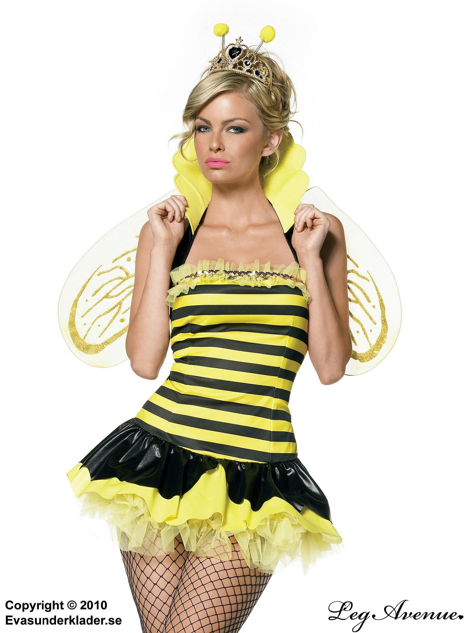 Bidrottning-kostym med vingar och krage 8dd67b575da3e